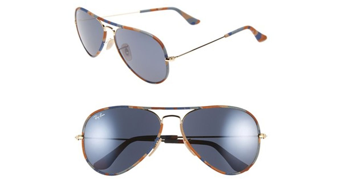18f3fadcccc Lyst - Ray-Ban 58mm Aviator Sunglasses in Black