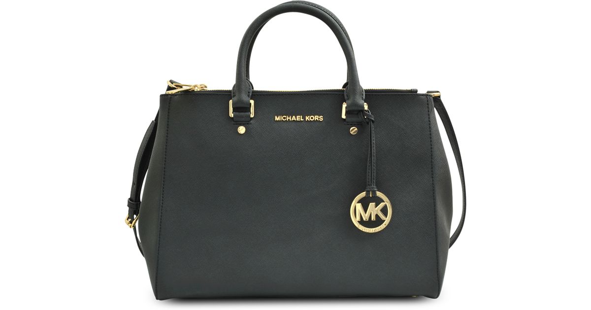 bf0faee1e7 ... aliexpress lyst michael michael kors double zip tote jet set travel bag  in black 684ed ff2ac