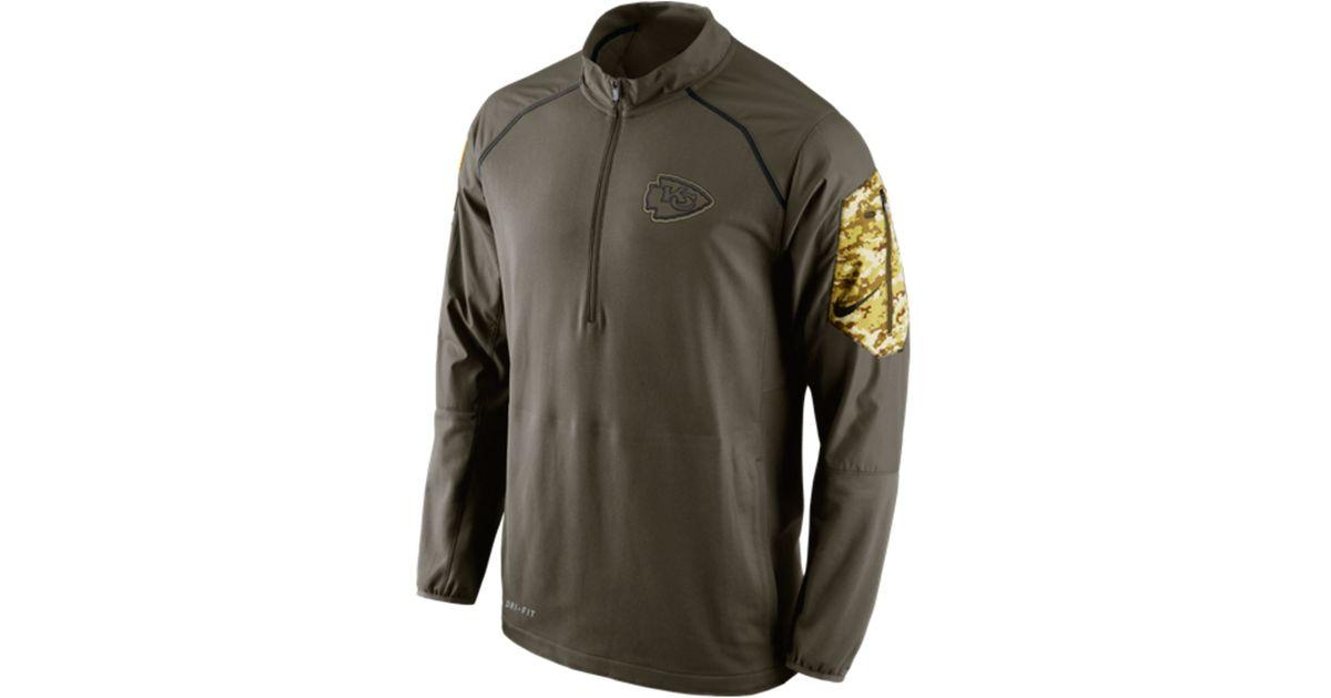 Lyst - Nike Men s Kansas City Chiefs Salute To Service Hybrid Quarter-zip  Pullover in Green for Men 77c3cef78