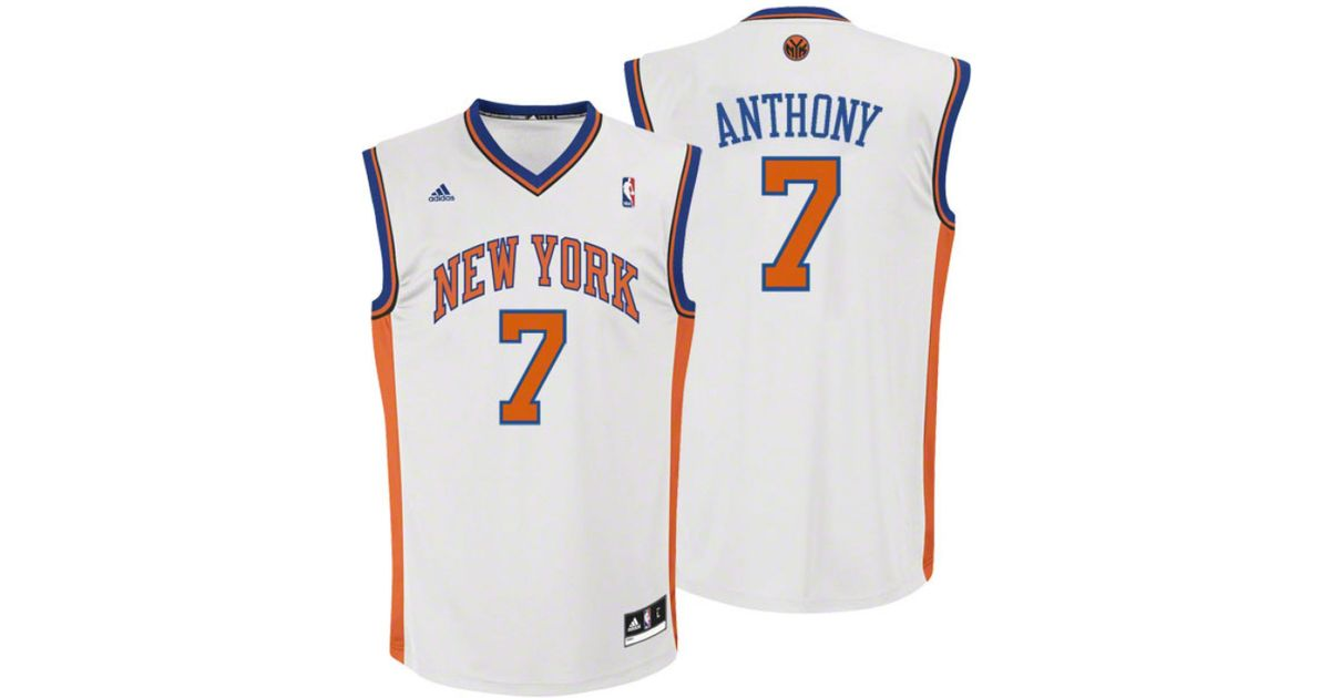 6b25851c0 adidas Kids  Carmelo Anthony New York Knicks Revolution 30 Jersey in White  for Men - Lyst