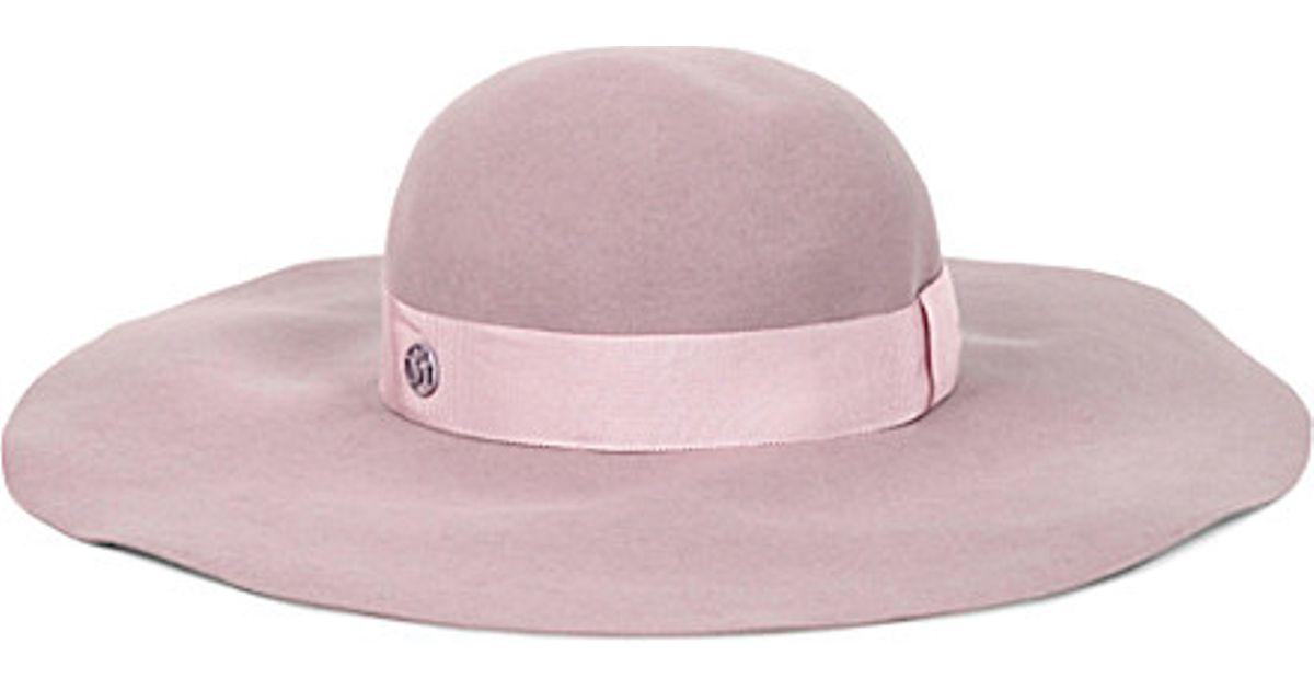 35f18fcda91 Maison Michel Lucia Felt Hat in Pink for Men - Lyst