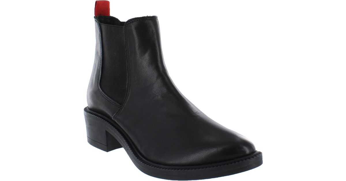 marta jonsson leather chelsea ankle boots in black lyst