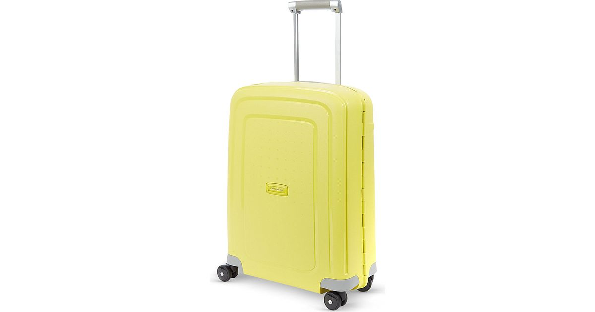 Samsonite Scure 55cm Spinner Suitcase in Yellow for Men | Lyst
