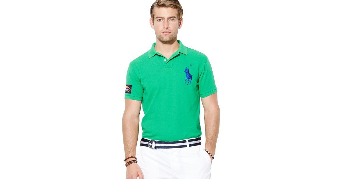 3e9c6e7e ... usa lyst ralph lauren polo us open custom big pony polo shirt slim fit  in green