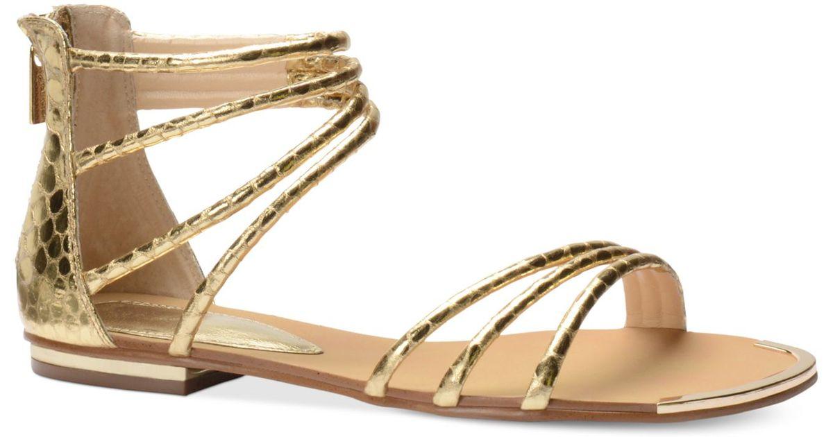 b30bd7c87f6 Lyst - Isola Marisa Flat Sandals in Metallic