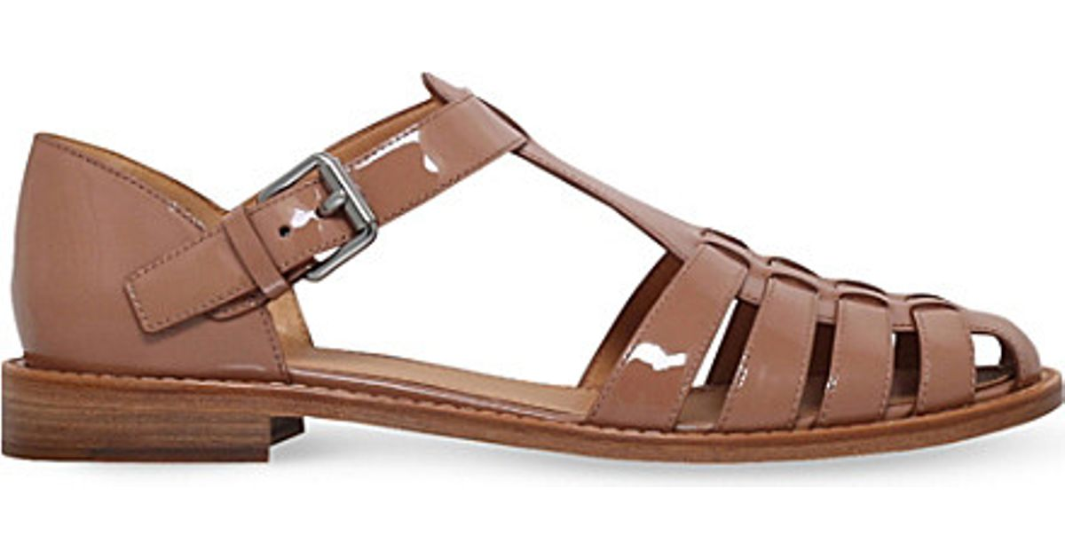 9207d13cc2b Lyst - Church s Kelsey Patent Sandals in Pink