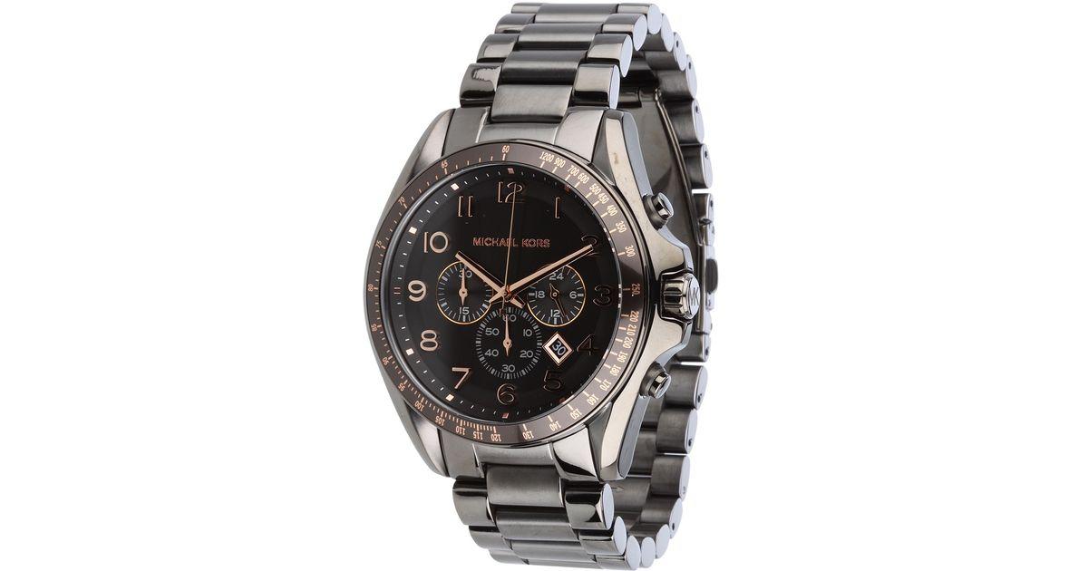81472f87e9e0 Lyst - Michael Kors Mk8255 - Mens Bradshaw Chronograph in Metallic for Men