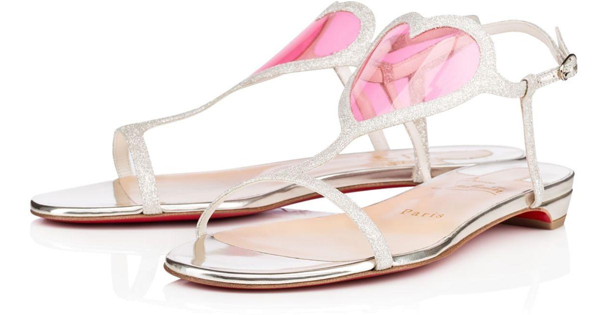 de8949078aa Christian Louboutin - Pink Cora Flat - Lyst
