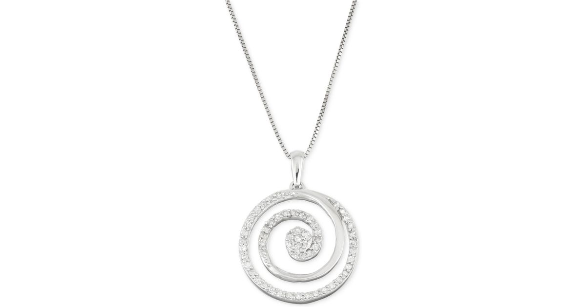 macy s circle pendant necklace 1 3 ct t w in