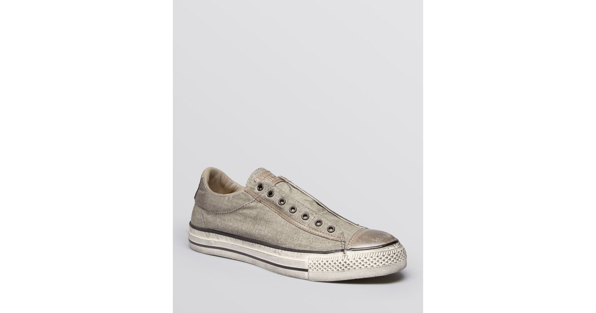 73cea16688c13f Lyst - Converse Chuck Taylor All Star Laceless Sneakers in Gray for Men