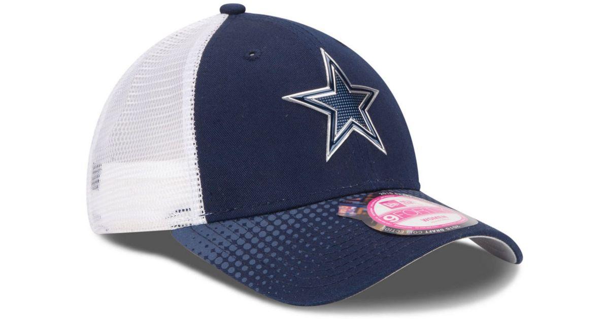 bacd14284c2177 KTZ Women'S Dallas Cowboys Draft 9Forty Cap in Blue - Lyst