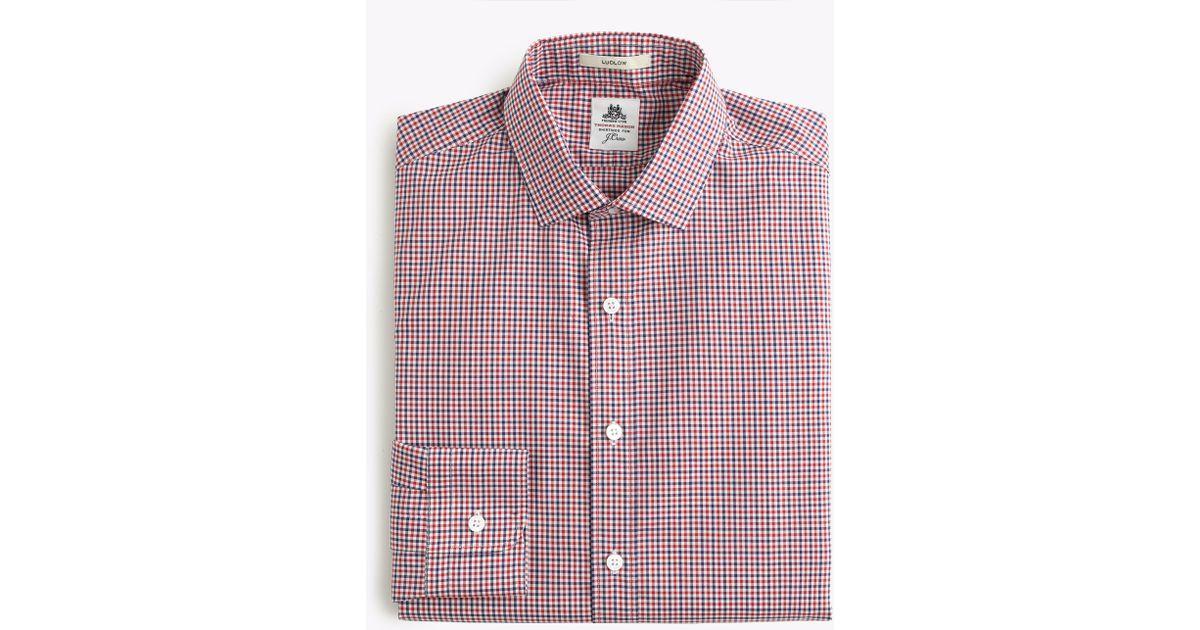 Thomas Mason Ludlow Shirt In Gingham For Men Lyst