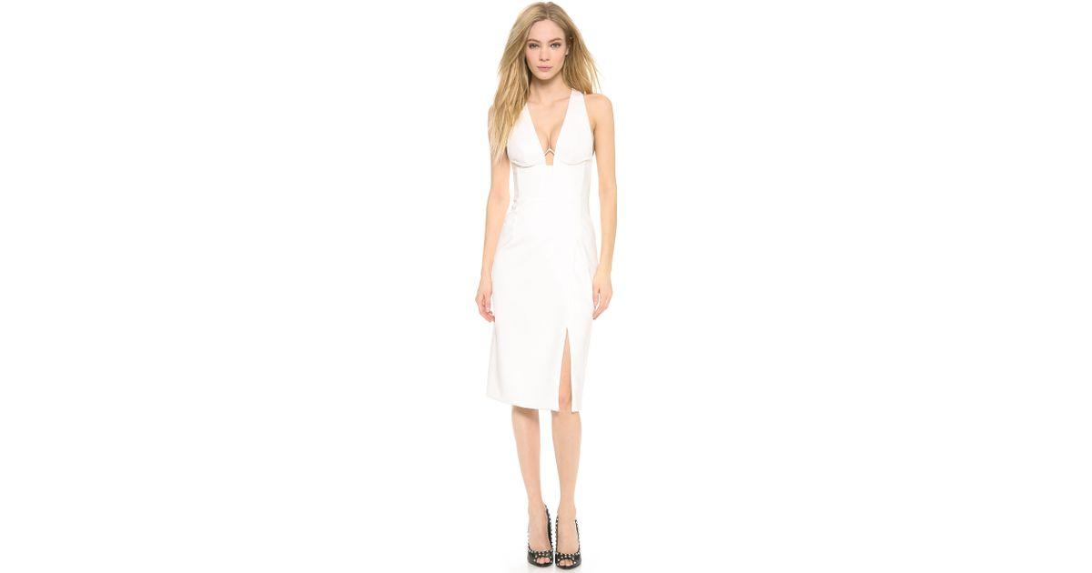 738b62d32f Dion Lee Hybrid Wire Dress in White - Lyst