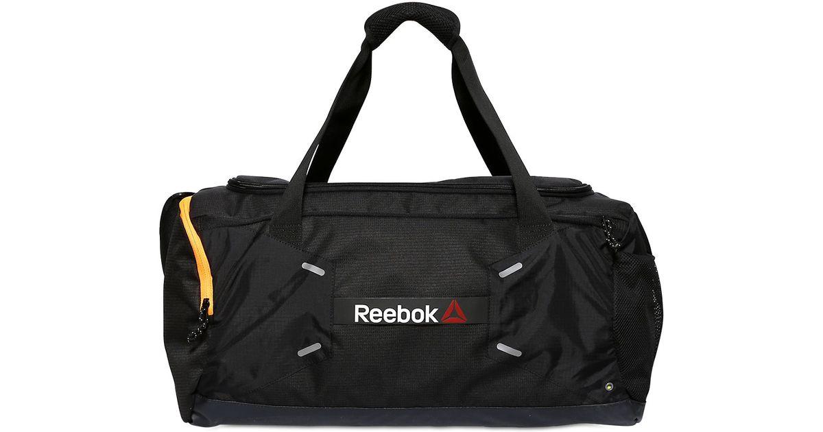 Reebok 48 L Nylon Ripstop Duffel Gym Bag In Black For Men