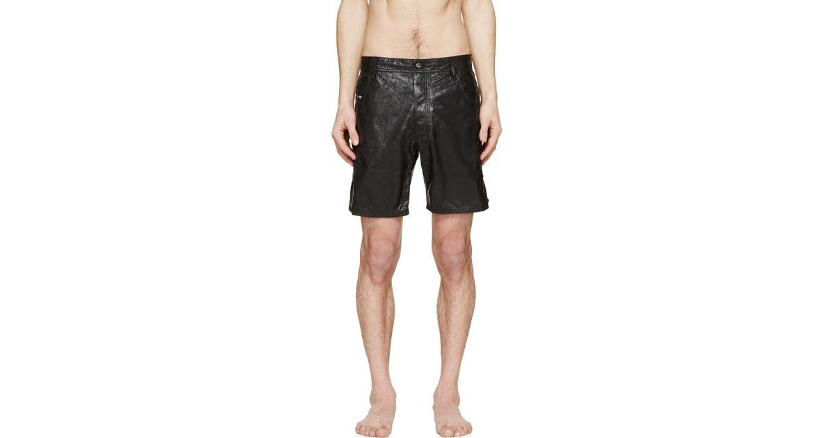 96c30aa96d DIESEL Black Bmbx Kroobeach Swim Shorts in Black for Men - Lyst
