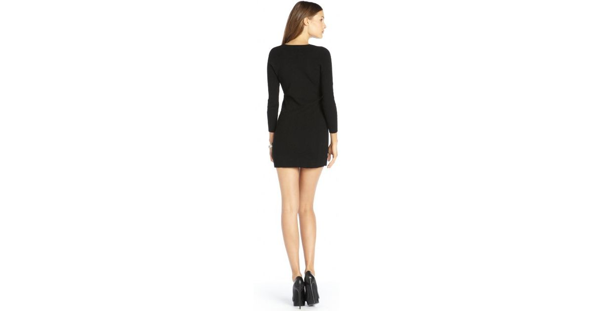 6d22684ad84 Lyst - Theyskens' Theory Black Stretch Knit Long Sleeve 'Kimberlyn' Sweater  Dress in Black