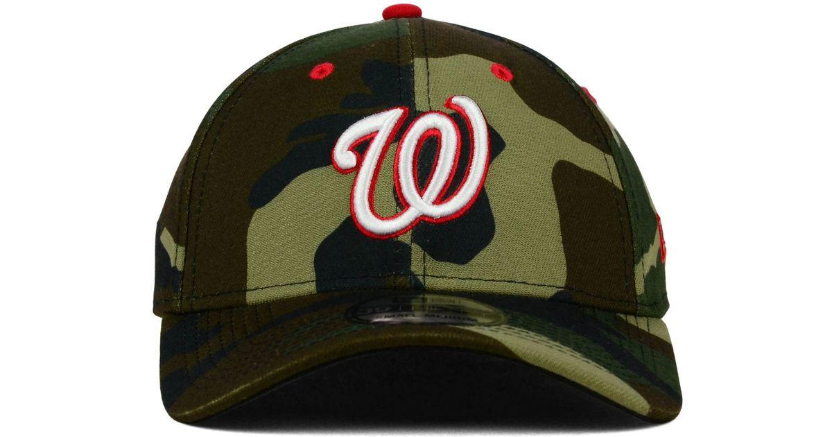 new arrivals 53058 385e0 KTZ Washington Nationals Camo Classic 39thirty Cap in Green - Lyst