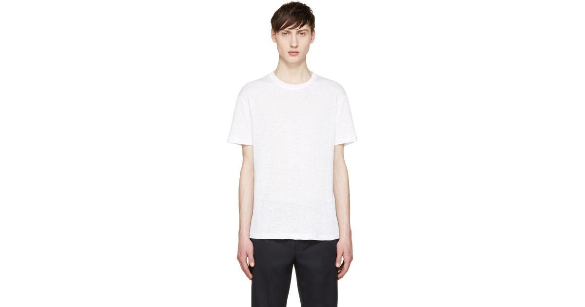 Fanmail white hemp t shirt in white for men save 64 lyst for Mens hemp t shirts