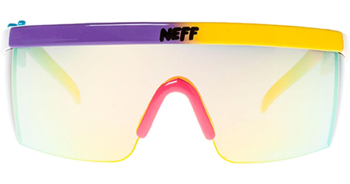 33128732b8d Lyst - Neff The Brodie Sunglasses in Purple for Men