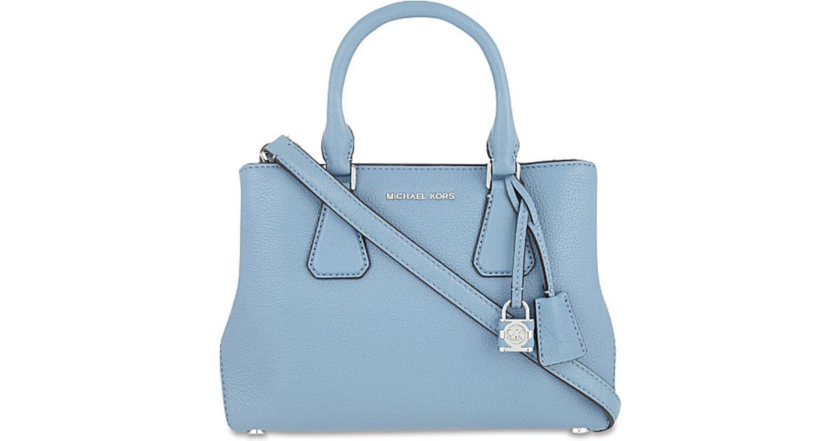 8c9da1ee55 MICHAEL Michael Kors Camille Small Leather Satchel in Blue - Lyst