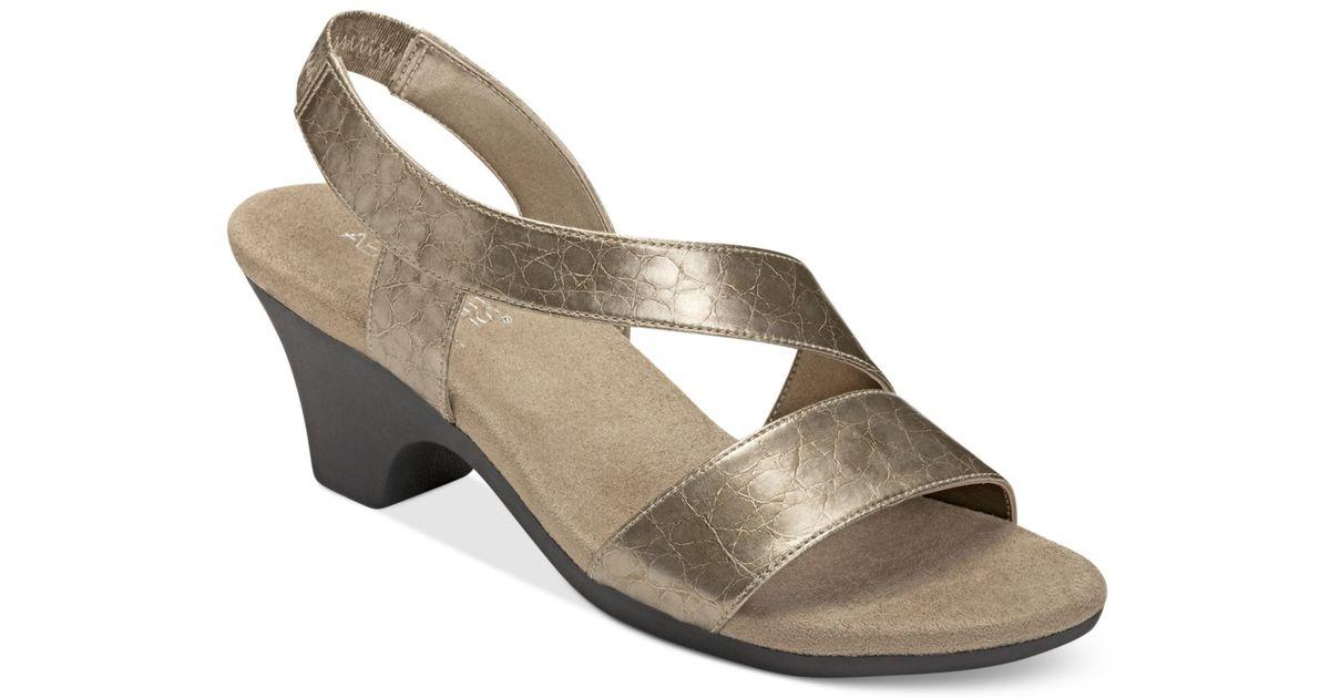 ba85b4a4a0fc Lyst - Aerosoles Brasserie Sandals in Metallic