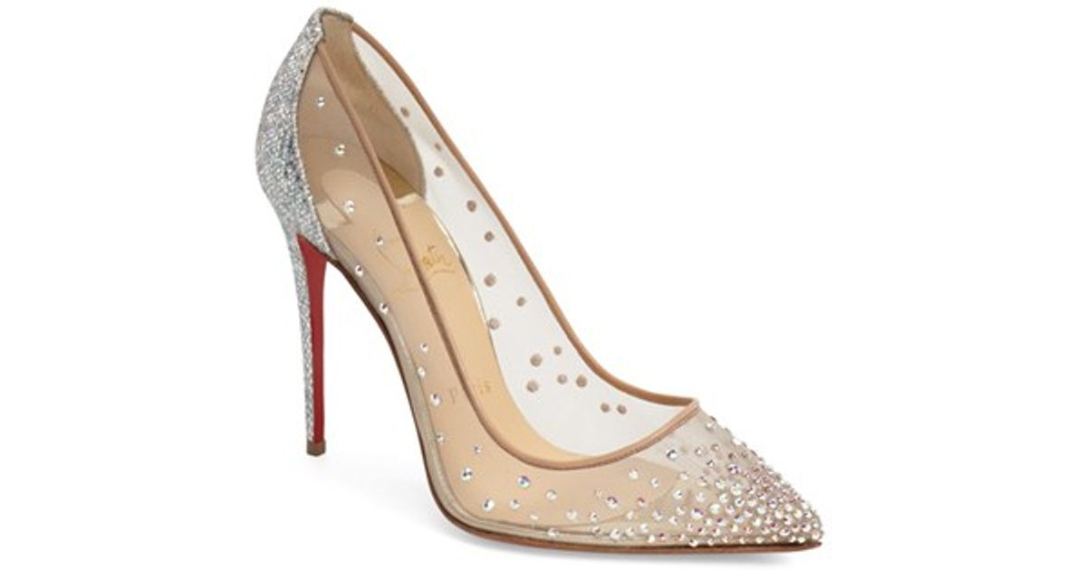 christian louboutin men sneakers - Christian louboutin \u0026#39;follies Strass\u0026#39; Pointy Toe Pump in Silver ...