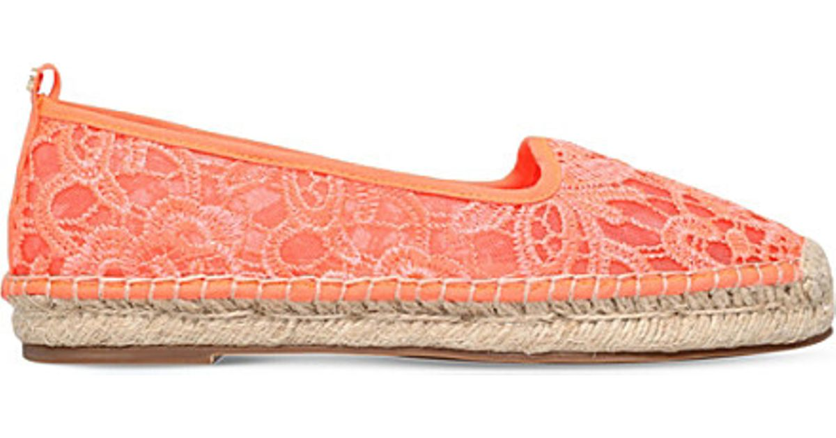 f58330642f93 KG by Kurt Geiger Mimosa Lace Espadriles in Orange - Lyst