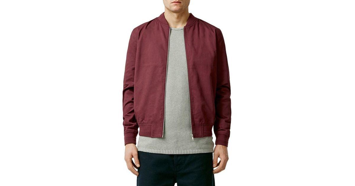 729d7e1d56c3 Lyst - TOPMAN Cotton Bomber Jacket in Purple for Men