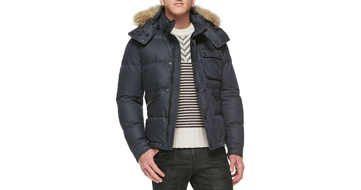 Lyst - Belstaff Atkinson Coated-cotton Quilted Jacket with Fur ... : cotton quilted jacket - Adamdwight.com