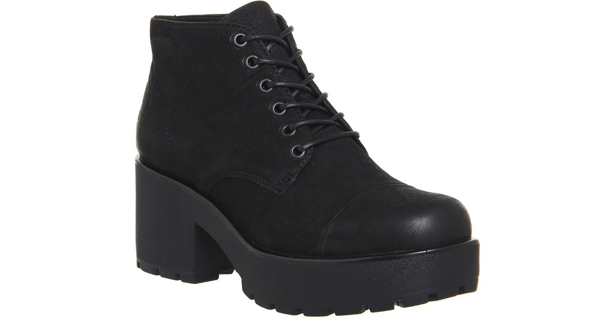 vagabond dioon lace up boots in black lyst