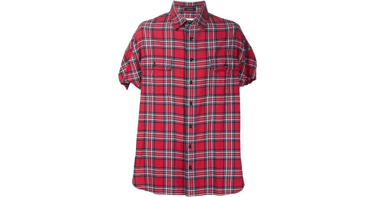 Red Check Shirt Mens