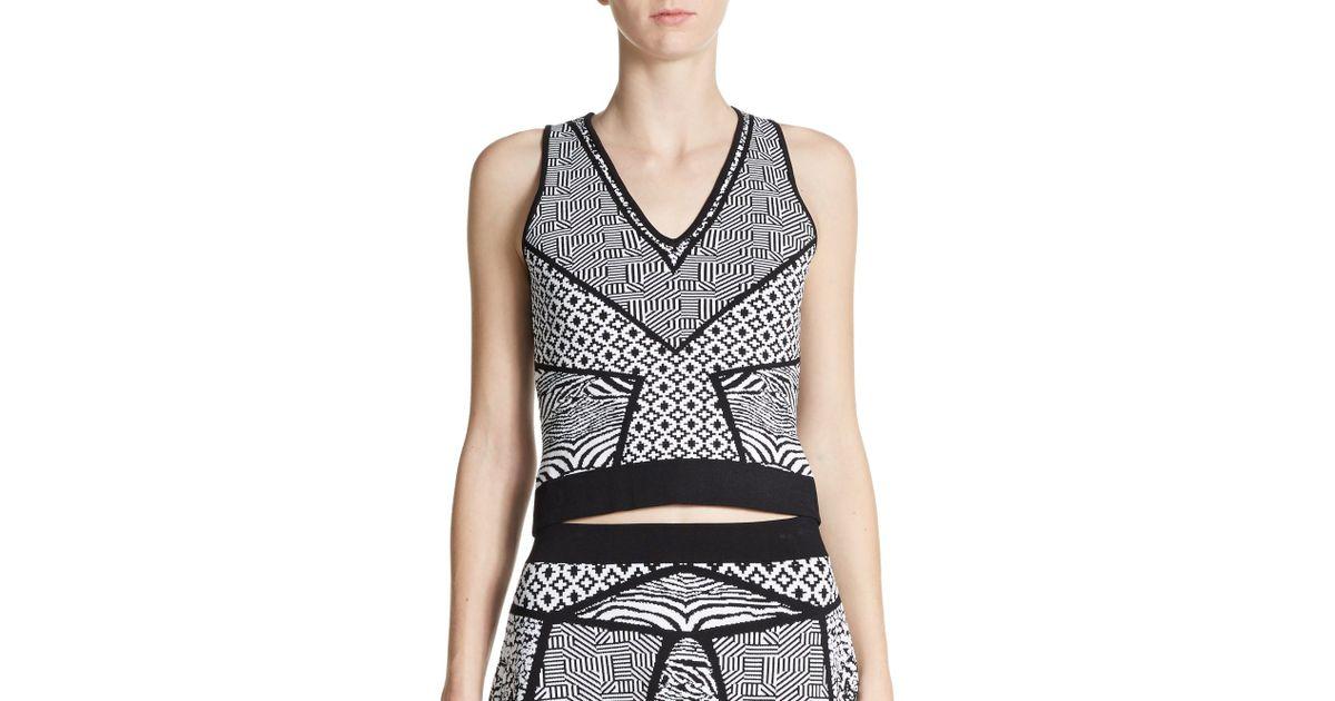 Lyst - Parker Kayin Knit Crop Top in Black