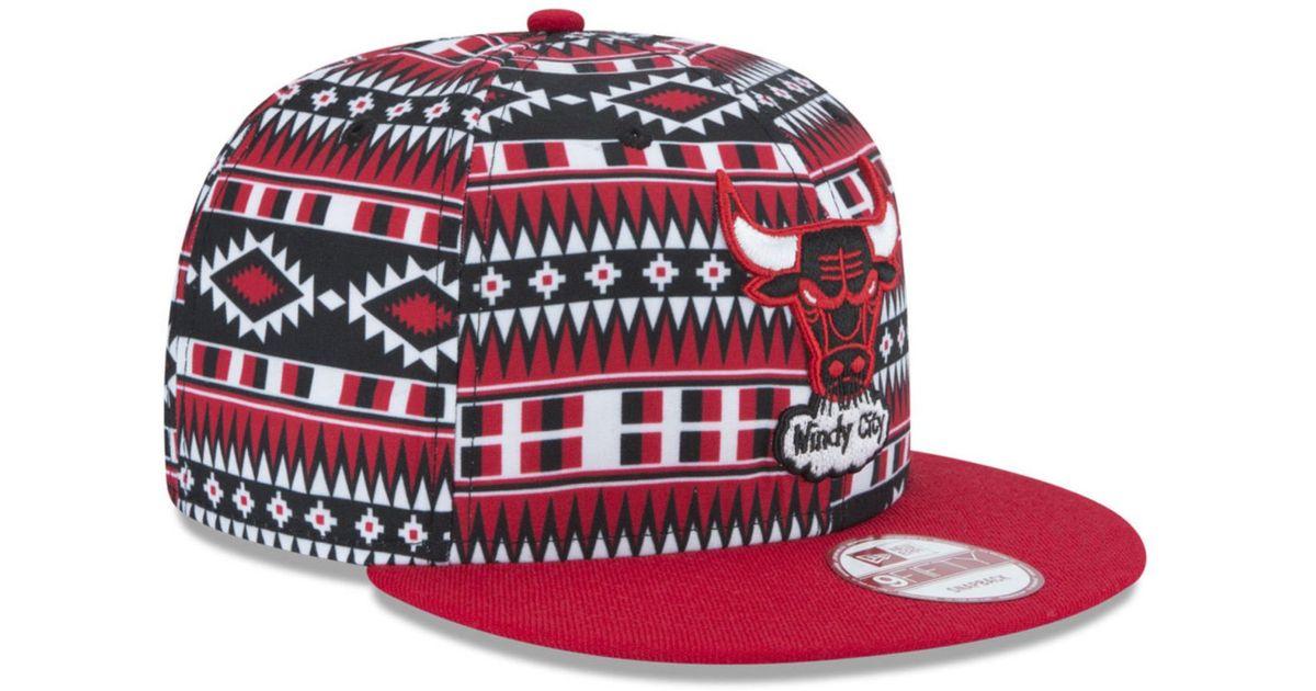 hot sale online cdaa5 af63c KTZ Chicago Bulls Hwc Tri-all Print 9fifty Snapback Cap in Red for Men -  Lyst