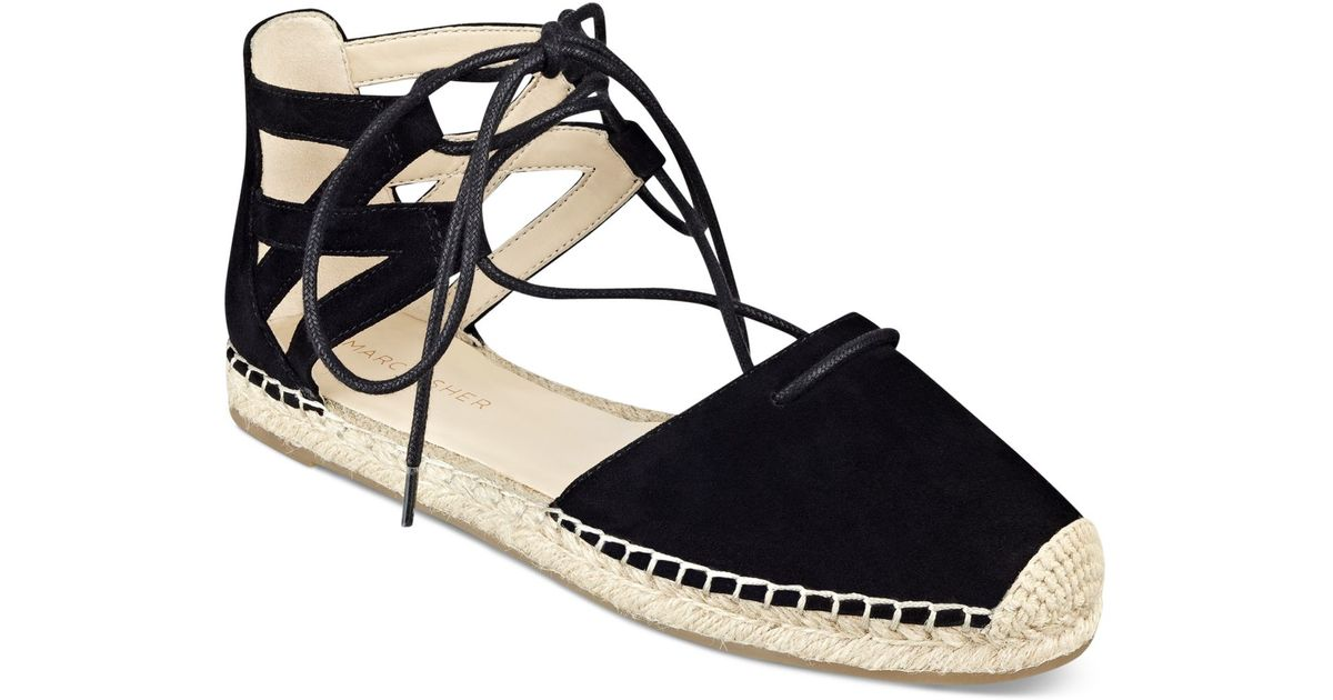 654770c7135 Lyst - Marc Fisher Misses Lace-up Espadrille Sandals in Black