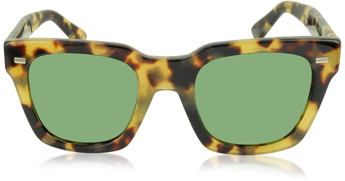 5b424e163e4 Gucci Square Acetate Sunglasses Black green red