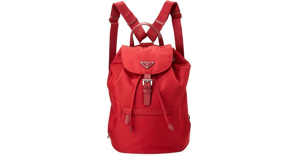 brown prada handbag - prada saffiano trimmed vela backpack, authentic prada backpack