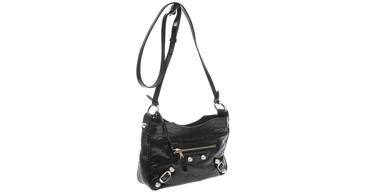 ff59265dd Balenciaga Giant City Mini Crossbody Bag in Black - Lyst