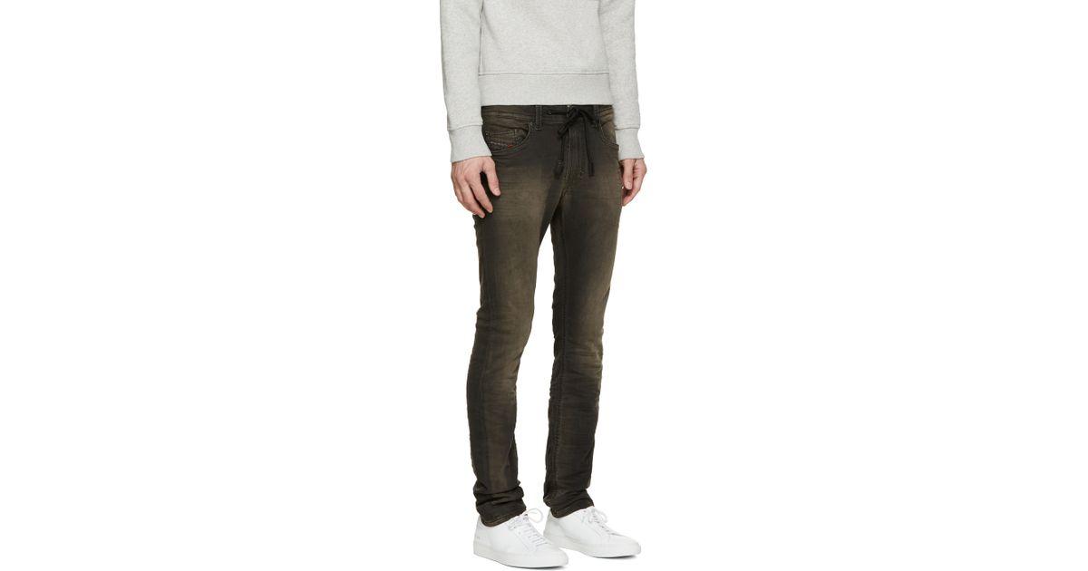 0c73ed1d DIESEL Grey Thavar Sp-ne Jogg Jeans in Gray for Men - Lyst