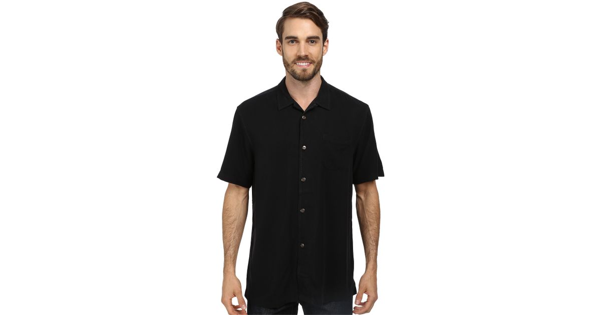 Tommy bahama island modern fit hamilton s s camp shirt in for Tommy bahama christmas shirt 2014