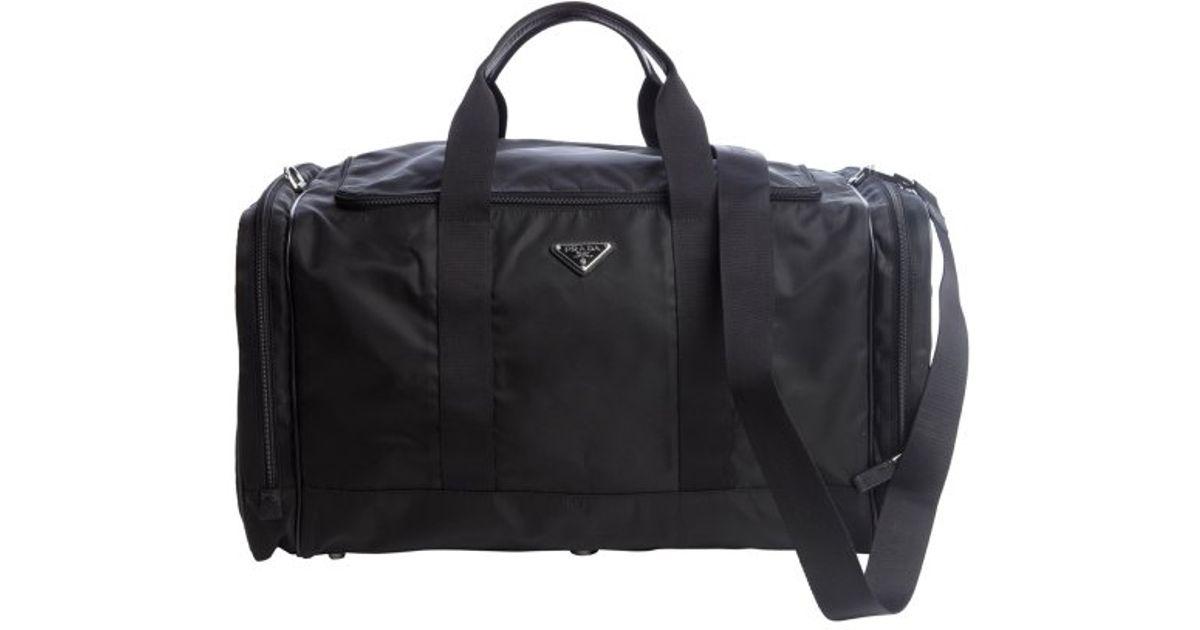 cc76533ca60243 ... get new zealand lyst prada black nylon zip large duffel bag in black  for men 854a9