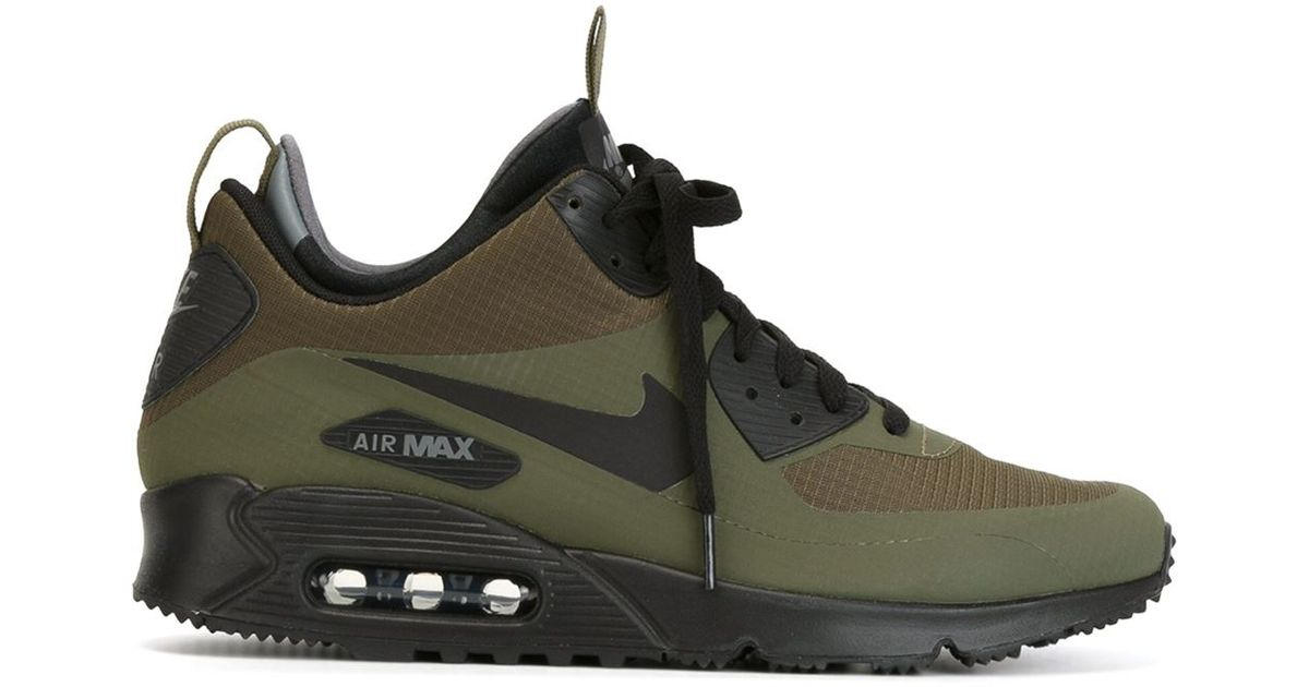 Nike Air Max 90 Mid Winter Sneaker Boots in Green for Men - Lyst bae759336ccd