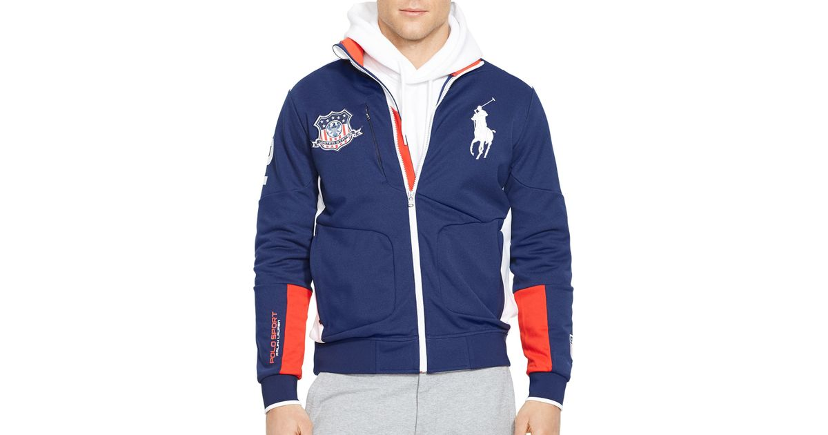 Ralph lauren Polo Sport Usa Full-zip Track Jacket in Blue for Men | Lyst