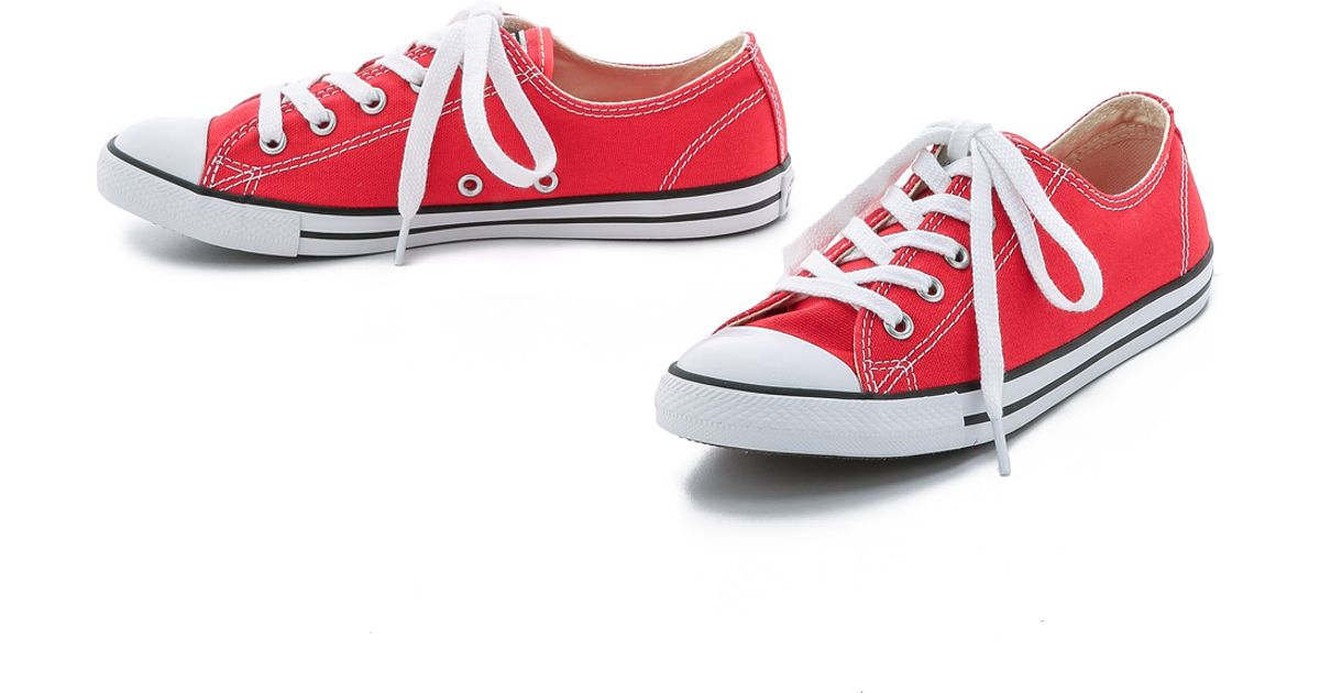 4a0024c5708e Lyst - Converse Chuck Taylor All Star Dainty Sneakers - Carnival in Red