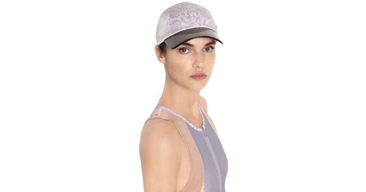 af6cc549d76 Lyst - adidas By Stella McCartney Adizero Snakeskin Printed Running Hat in  Gray