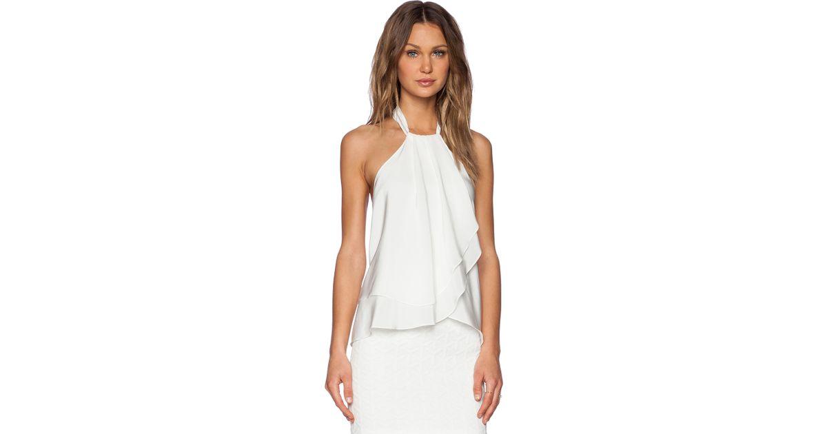 7f2f6b64d4807 Lyst - Amanda Uprichard Cascade Top in White