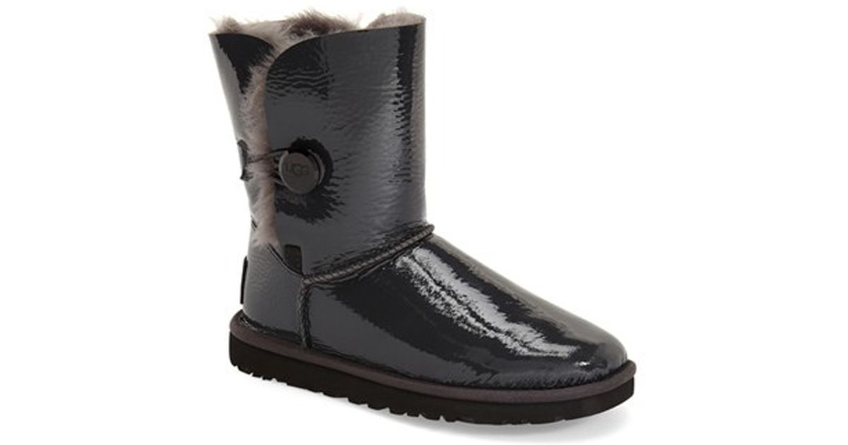 ugg bailey button mirage water resistant boot in black