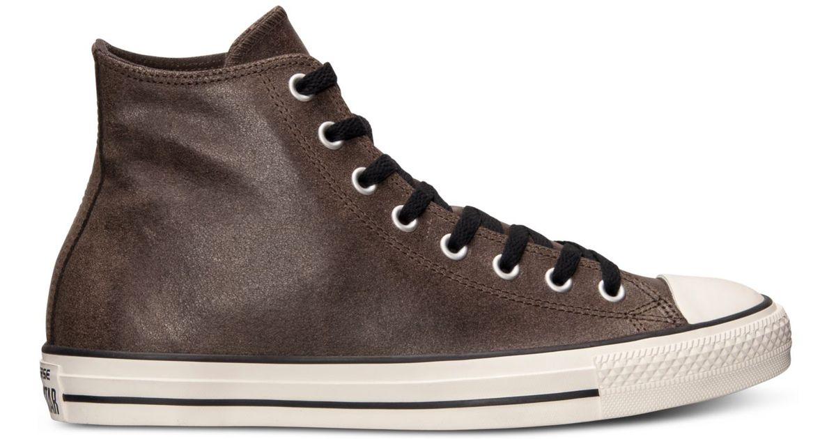 e48e73f7403db2 Lyst - Converse Men S All Star Vintage Leather Hi Casual Sneakers From  Finish Line in Brown for Men