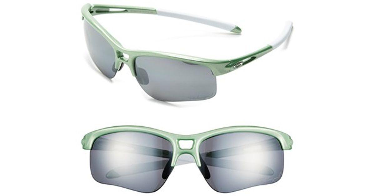 bacc1824c6d6e Lyst - Oakley  rpm Edge  62mm Polarized Sunglasses - Honeydew Pearl  Black   Polar in Green