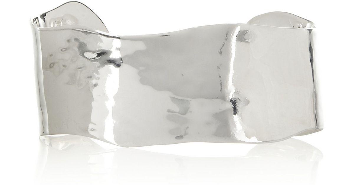 82de9abf27cd Lyst - Monica Vinader Siren Sterling Silver Labradorite Cuff in Metallic