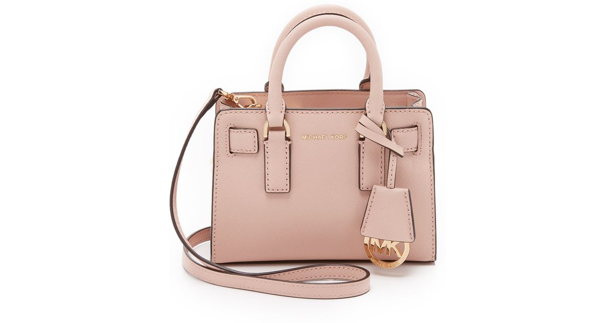 4be064d05948 Lyst - MICHAEL Michael Kors Dillon Saffiano-Leather Cross-Body Bag in Pink